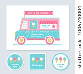 icecream truck vector kids... | Shutterstock .eps vector #1006740004