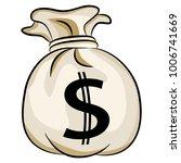an image of a bag of bank money ... | Shutterstock .eps vector #1006741669