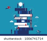 people and book. business... | Shutterstock .eps vector #1006741714