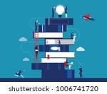 people and book. business... | Shutterstock .eps vector #1006741720