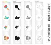 children's toy cartoon icons in ...   Shutterstock .eps vector #1006741894