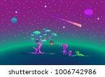 pixel art story about aliens...   Shutterstock .eps vector #1006742986
