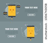 two concepts of phone does not... | Shutterstock .eps vector #1006743058