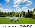 white chairs in front of... | Shutterstock . vector #1006744900
