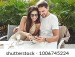 happy young people having fun... | Shutterstock . vector #1006745224