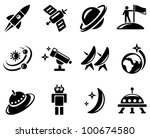space icon set | Shutterstock .eps vector #100674580
