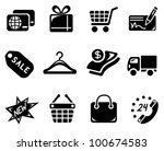 shopping icon set | Shutterstock .eps vector #100674583