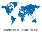 world map vector | Shutterstock .eps vector #1006748554