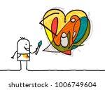 cartoon artist painting a...   Shutterstock .eps vector #1006749604