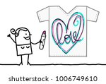 cartoon textile designer...   Shutterstock .eps vector #1006749610