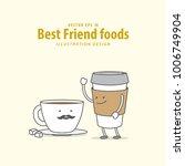 cartoon character of coffee... | Shutterstock .eps vector #1006749904