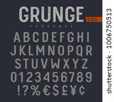 grunge textured font. rough... | Shutterstock .eps vector #1006750513