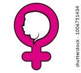 female gender symbol concept... | Shutterstock .eps vector #1006751434