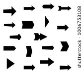 set of black various arrows.... | Shutterstock .eps vector #1006753108