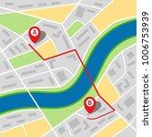 city map of an imaginary city... | Shutterstock .eps vector #1006753939
