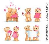 teddy bears collection  couple... | Shutterstock .eps vector #1006755340