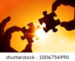 two hands of businessman to... | Shutterstock . vector #1006756990