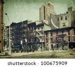 New York City. Street. Old...