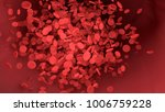 red blood cell in blood vessel...   Shutterstock . vector #1006759228