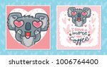 set of greeting cards with... | Shutterstock .eps vector #1006764400