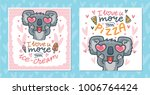 set of greeting cards with... | Shutterstock .eps vector #1006764424