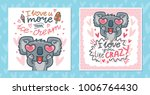 set of greeting cards with... | Shutterstock .eps vector #1006764430