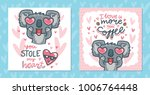 set of greeting cards with... | Shutterstock .eps vector #1006764448