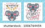 set of greeting cards with... | Shutterstock .eps vector #1006764454