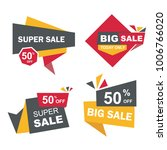 big sale and discount badge icon   Shutterstock .eps vector #1006766020