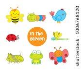 cute animals vector set in the... | Shutterstock .eps vector #1006768120