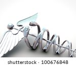 caduceus isolated on white... | Shutterstock . vector #100676848