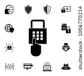 the pin code icon. password and ... | Shutterstock .eps vector #1006770214