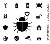 shield icon with a bug. set of... | Shutterstock .eps vector #1006770223