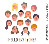 hand drawn style people... | Shutterstock .eps vector #1006771480