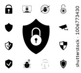 shield security icon. lock...   Shutterstock .eps vector #1006773430