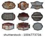old steel metal sign plate... | Shutterstock . vector #1006773736
