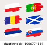 set of world flags in grunge... | Shutterstock .eps vector #1006774564