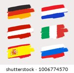set of world flags in grunge... | Shutterstock .eps vector #1006774570
