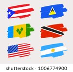set of world flags in grunge... | Shutterstock .eps vector #1006774900
