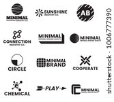 minimal vector logo for banner  ... | Shutterstock .eps vector #1006777390