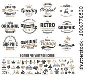 vintage retro vector logo for... | Shutterstock .eps vector #1006778530