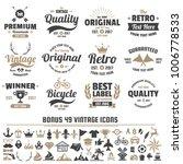 vintage retro vector logo for... | Shutterstock .eps vector #1006778533