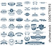 vintage retro vector logo for... | Shutterstock .eps vector #1006778593