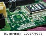 closeup of computer chips | Shutterstock . vector #1006779376