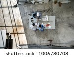 four persons team of engineers... | Shutterstock . vector #1006780708