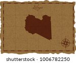 ancient map with libya... | Shutterstock .eps vector #1006782250