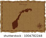 ancient map with norway... | Shutterstock .eps vector #1006782268