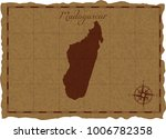 ancient map with madagascar... | Shutterstock .eps vector #1006782358