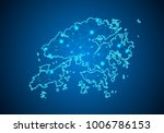 abstract mash line and point... | Shutterstock .eps vector #1006786153