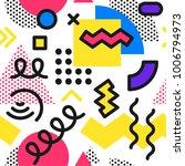 memphis seamless pattern.... | Shutterstock .eps vector #1006794973